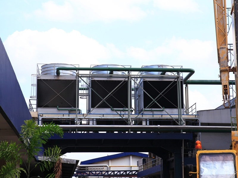 Install Cooling Tower Destilasi Unit 5 PT GG Kediri