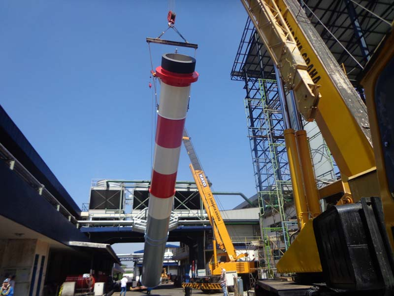 Installation Stack Chimney - GG Kediri