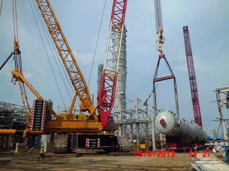 Tailing 121D with Crane 1600T and crane 600T CO2 Absorber PKT-5 Project